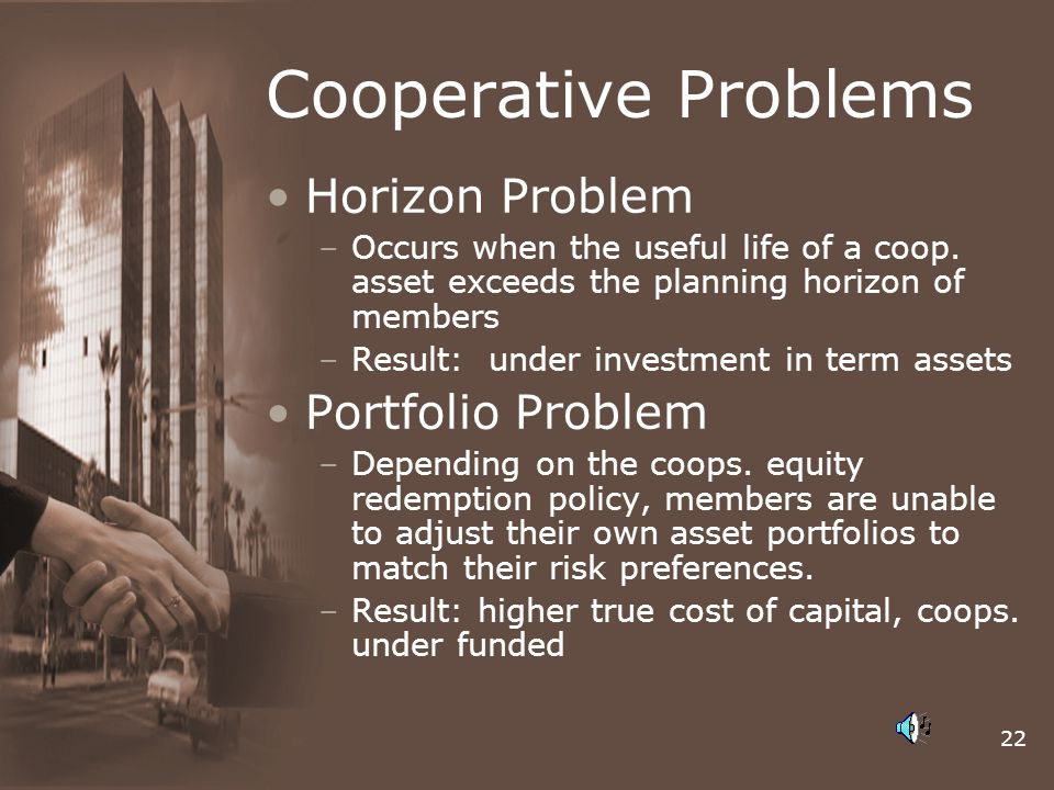 Cooperative Problems Horizon Problem Portfolio Problem