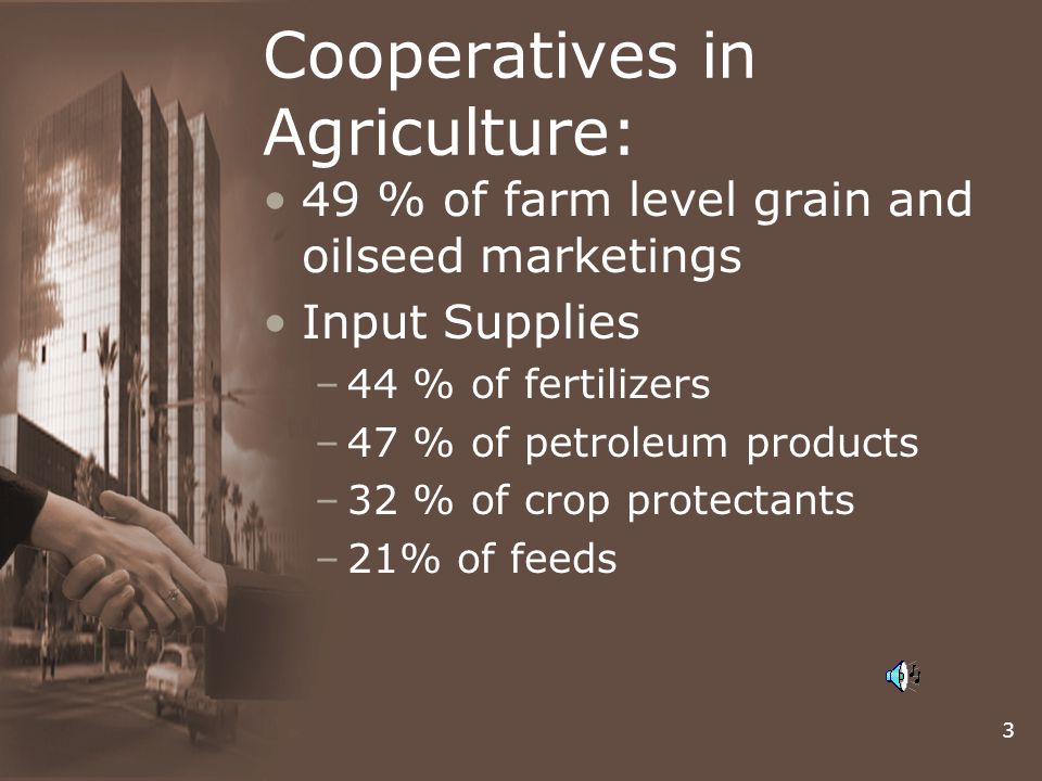 Cooperatives in Agriculture: