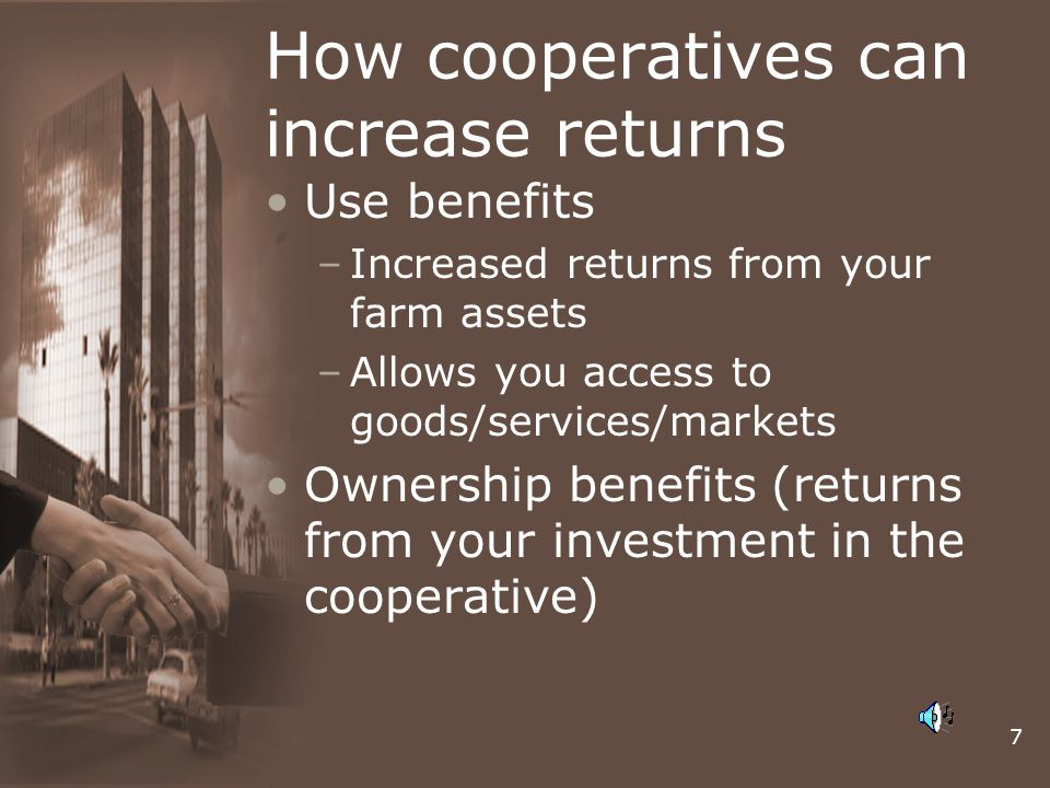How cooperatives can increase returns
