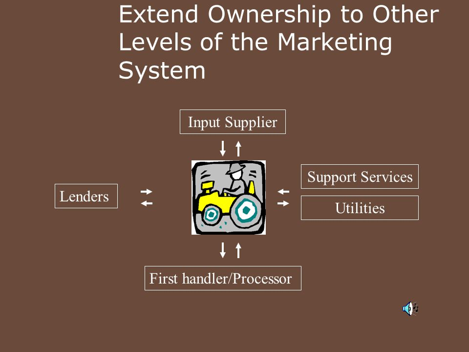 Extend Ownership to Other Levels of the Marketing System