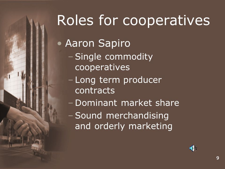 Roles for cooperatives