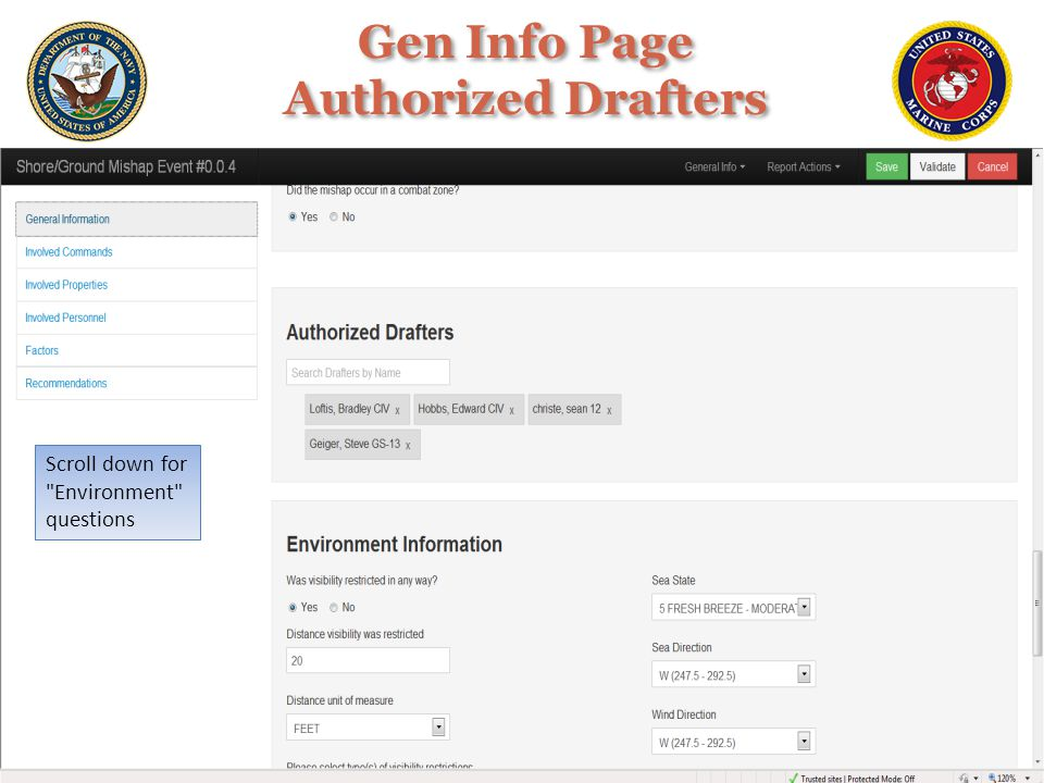 Gen Info Page Authorized Drafters