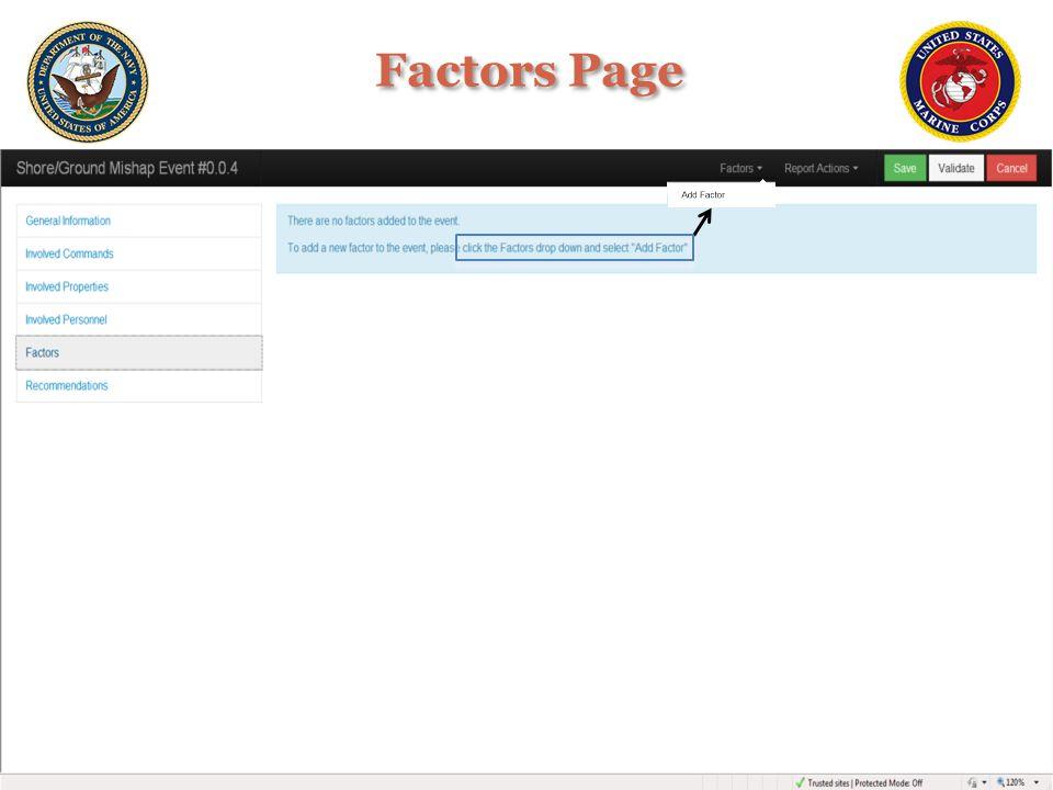 Factors Page