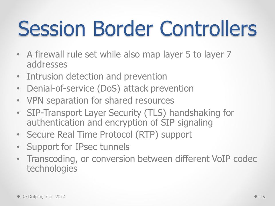 Session Border Controllers