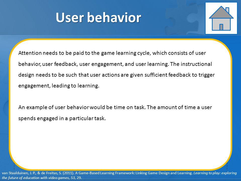 User behavior Learning Instruction Assessment