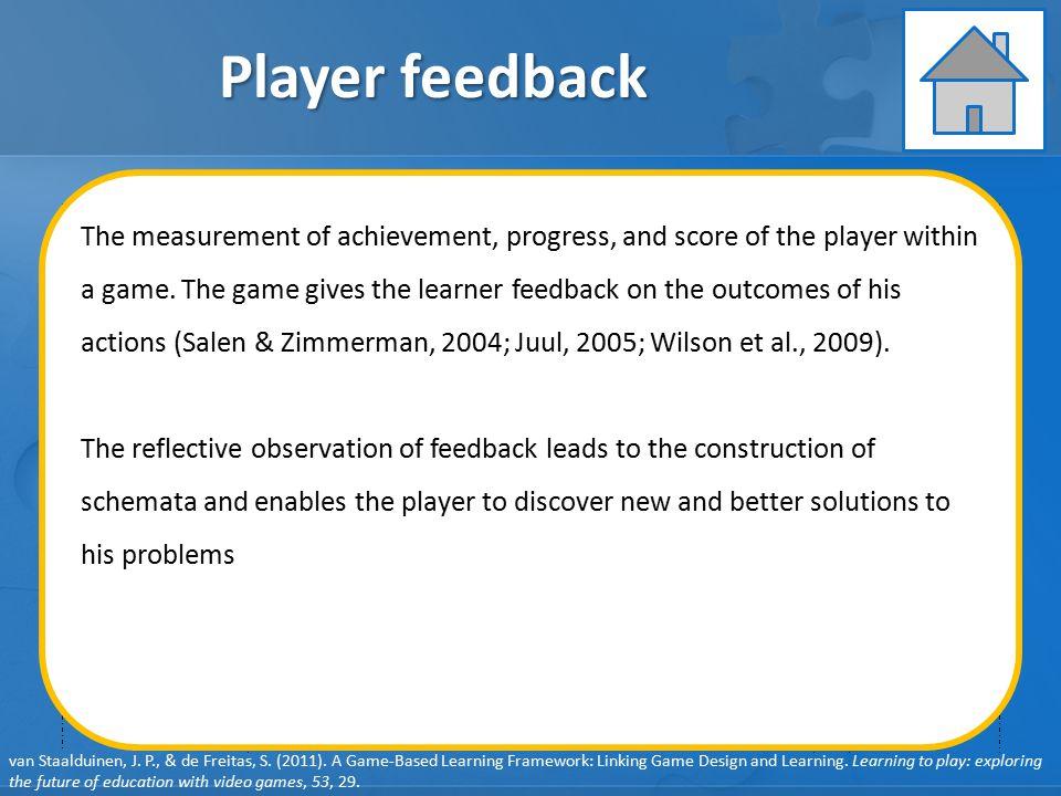 Player feedback
