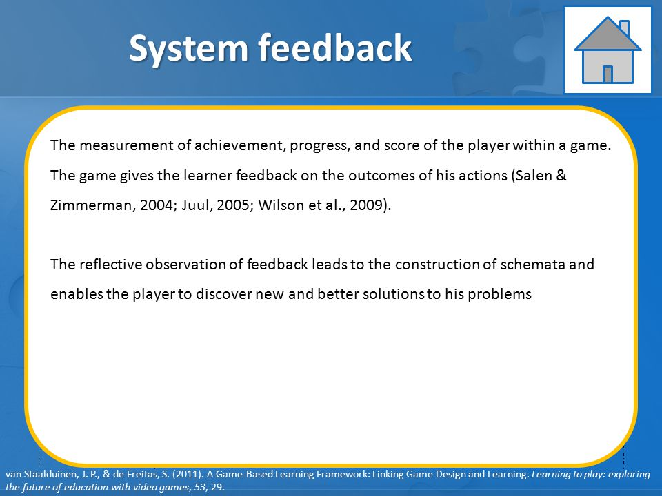 System feedback Learning Instruction Assessment