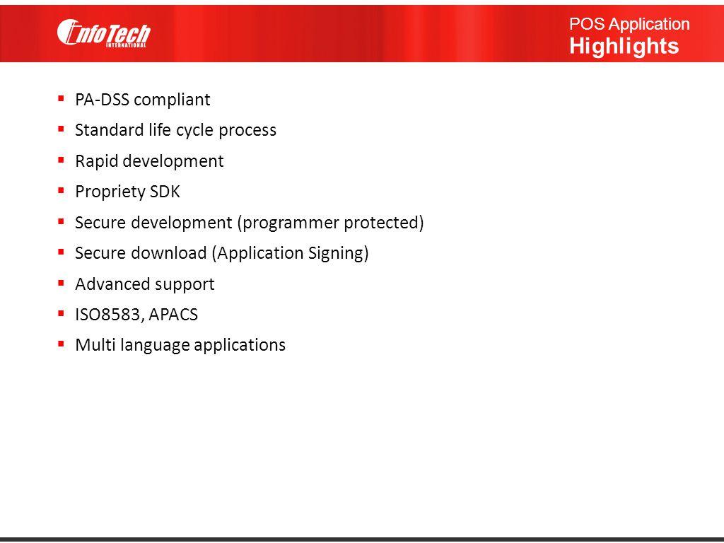 POS Application Highlights