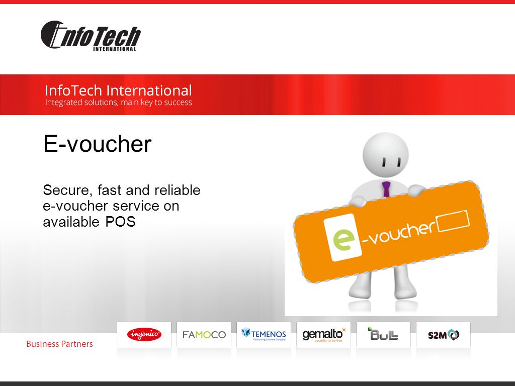 E-voucher Secure, fast and reliable e-voucher service on available POS
