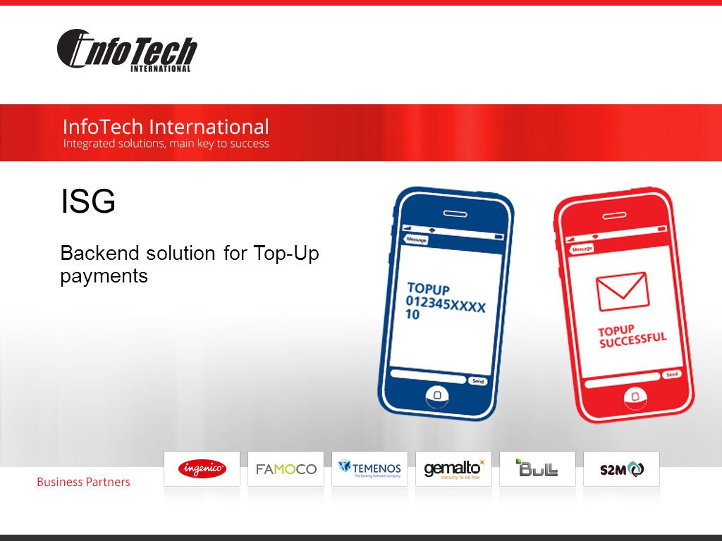 ISG Backend solution for Top-Up payments