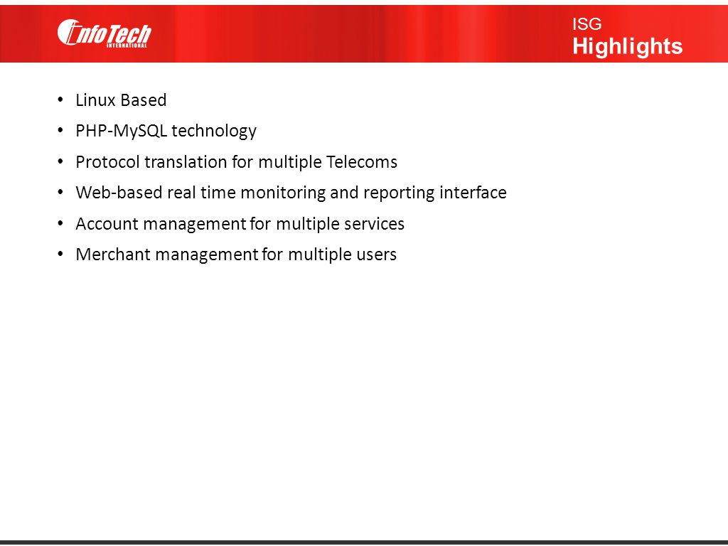 Protocol translation for multiple Telecoms