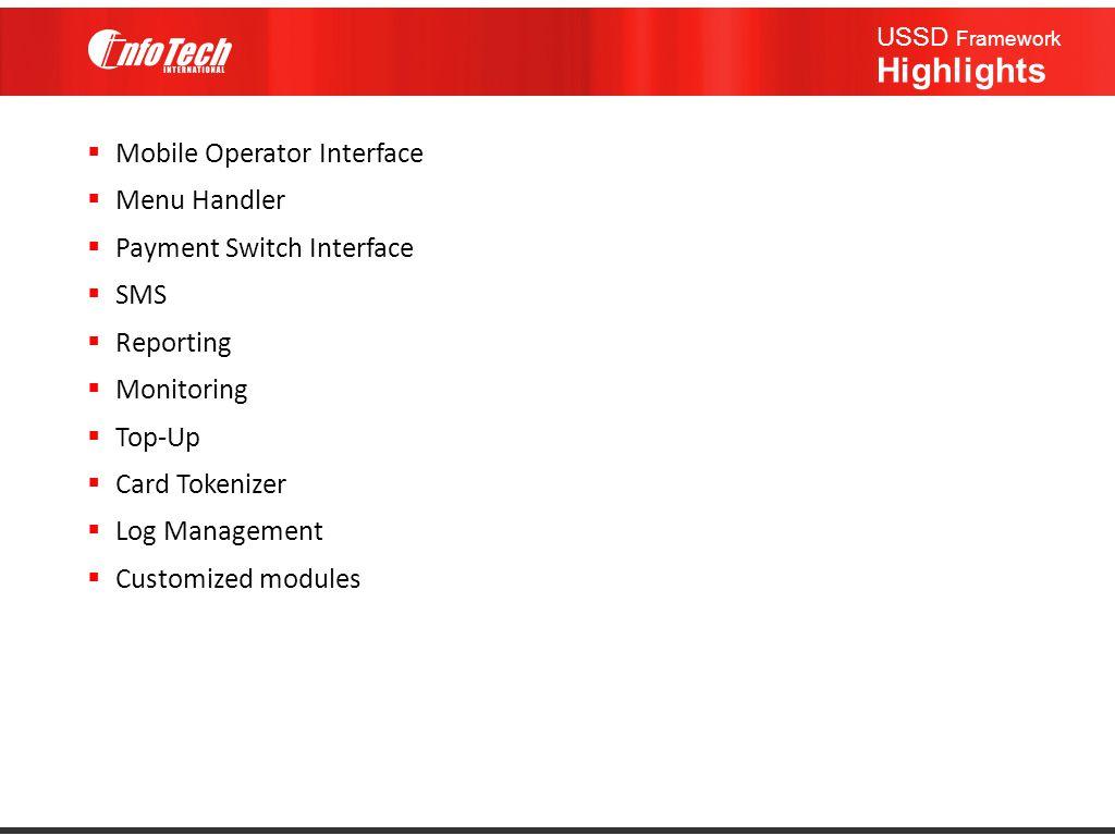 USSD Framework Highlights
