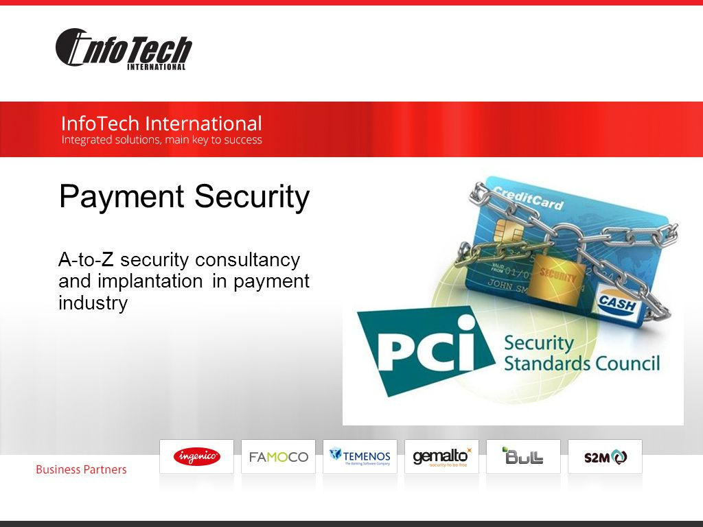 Payment Security A-to-Z security consultancy and implantation in payment industry