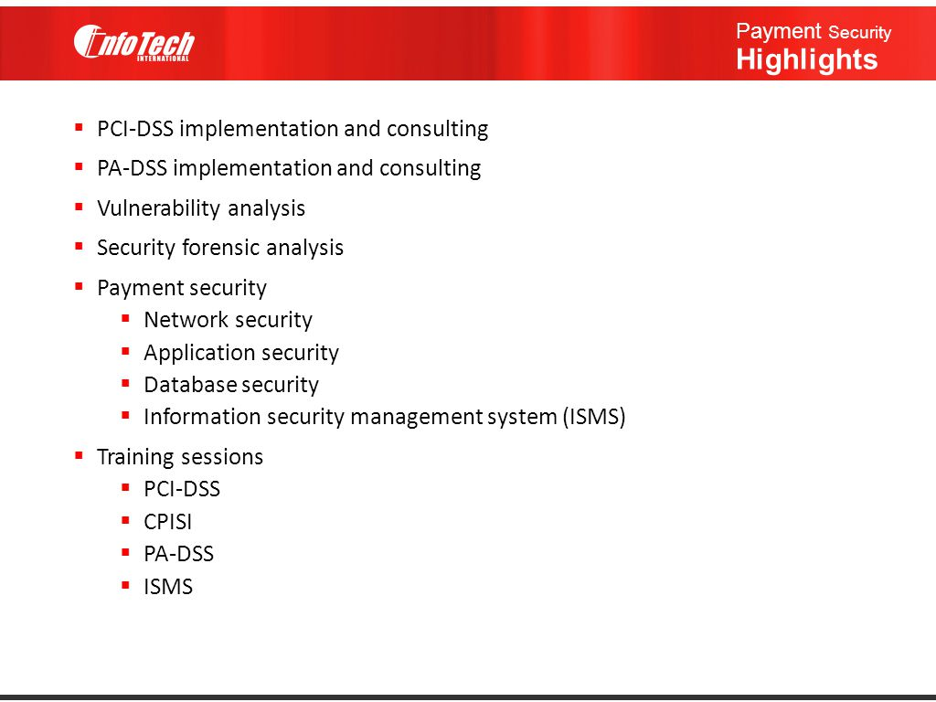 Payment Security Highlights