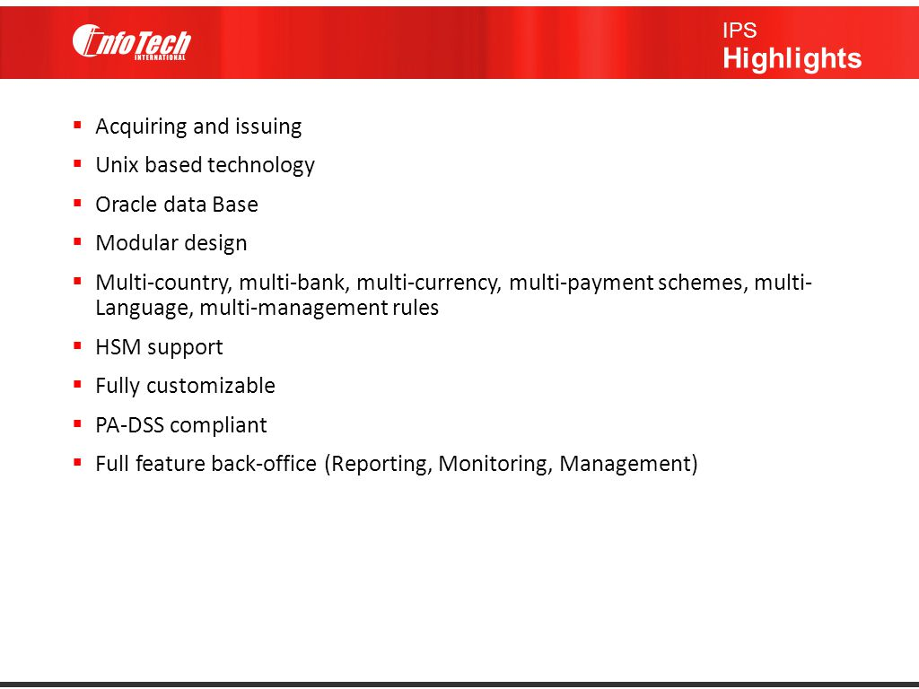 Full feature back-office (Reporting, Monitoring, Management)