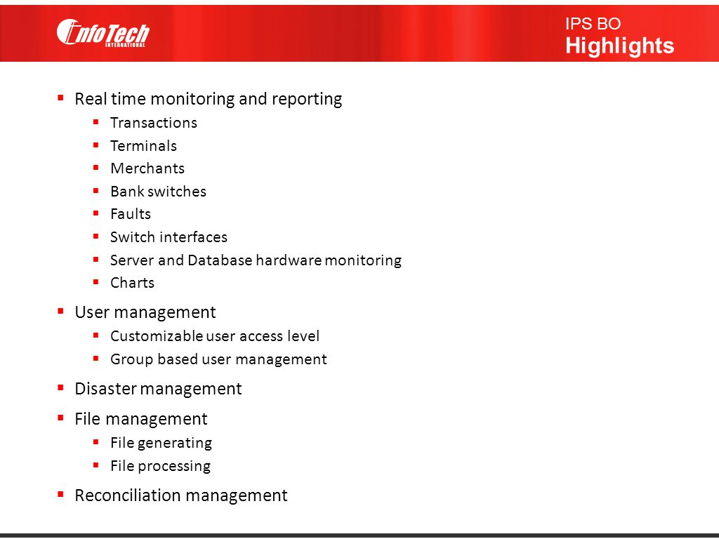 Real time monitoring and reporting