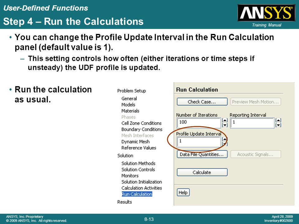 Step 4 – Run the Calculations