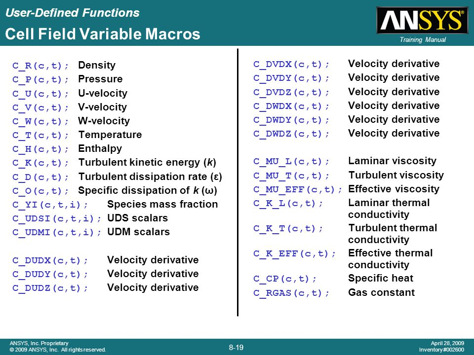 Cell Field Variable Macros