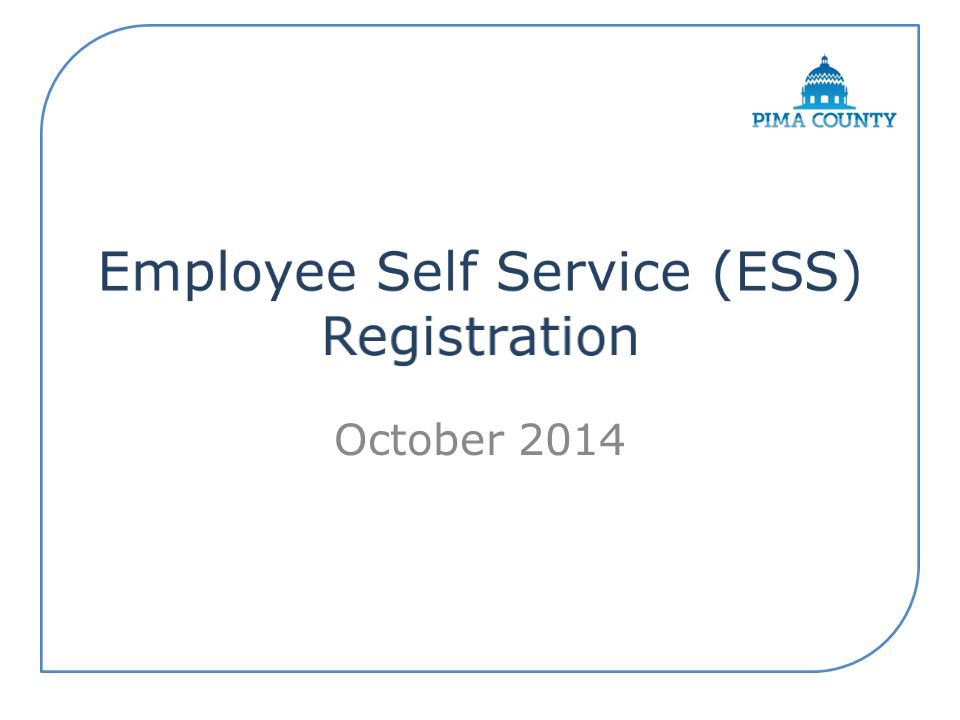 Employee Self Service (ESS) Registration