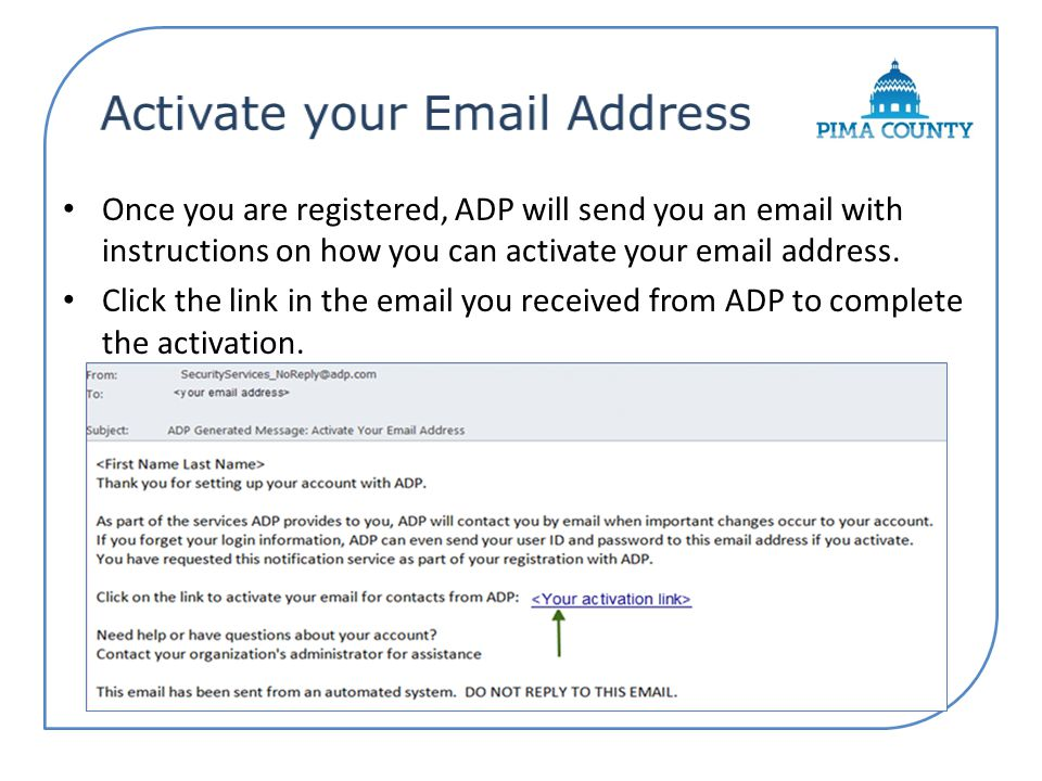 Activate your Email Address