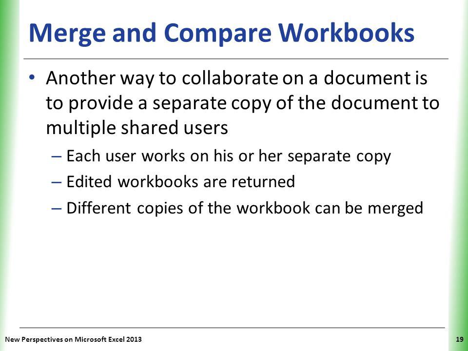 Merge and Compare Workbooks