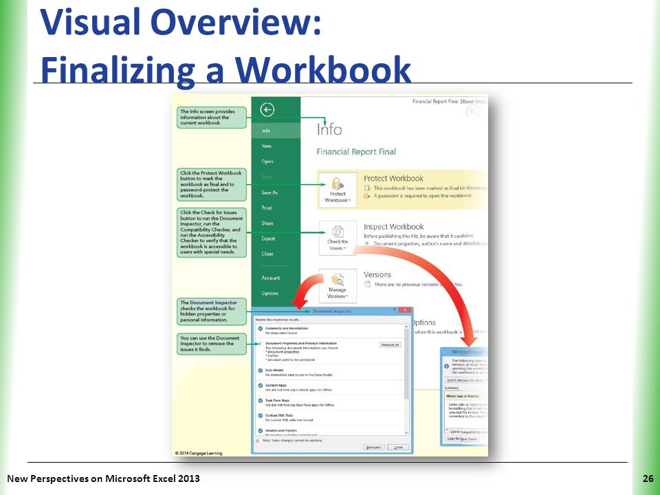 Visual Overview: Finalizing a Workbook