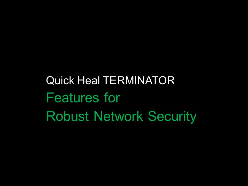 Robust Network Security