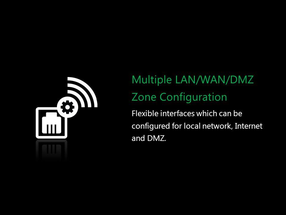 Multiple LAN/WAN/DMZ Zone Configuration