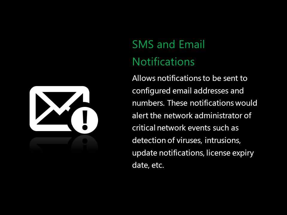 SMS and Email Notifications