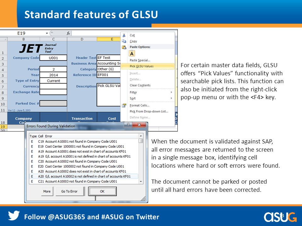 Standard features of GLSU