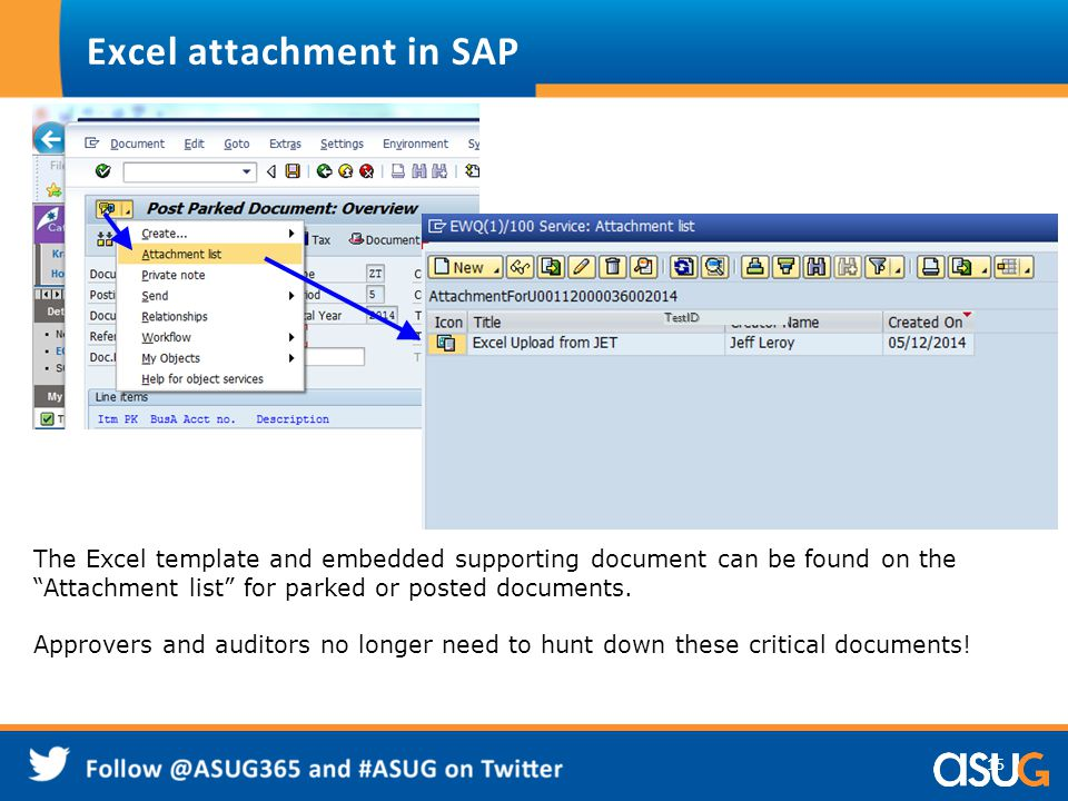 Excel attachment in SAP