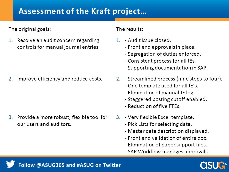 Assessment of the Kraft project…