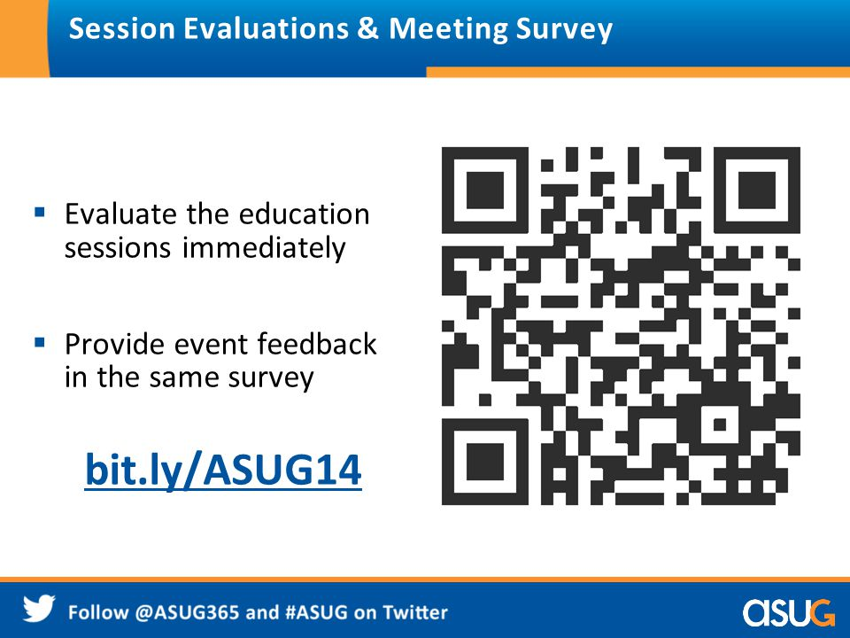 Session Evaluations & Meeting Survey