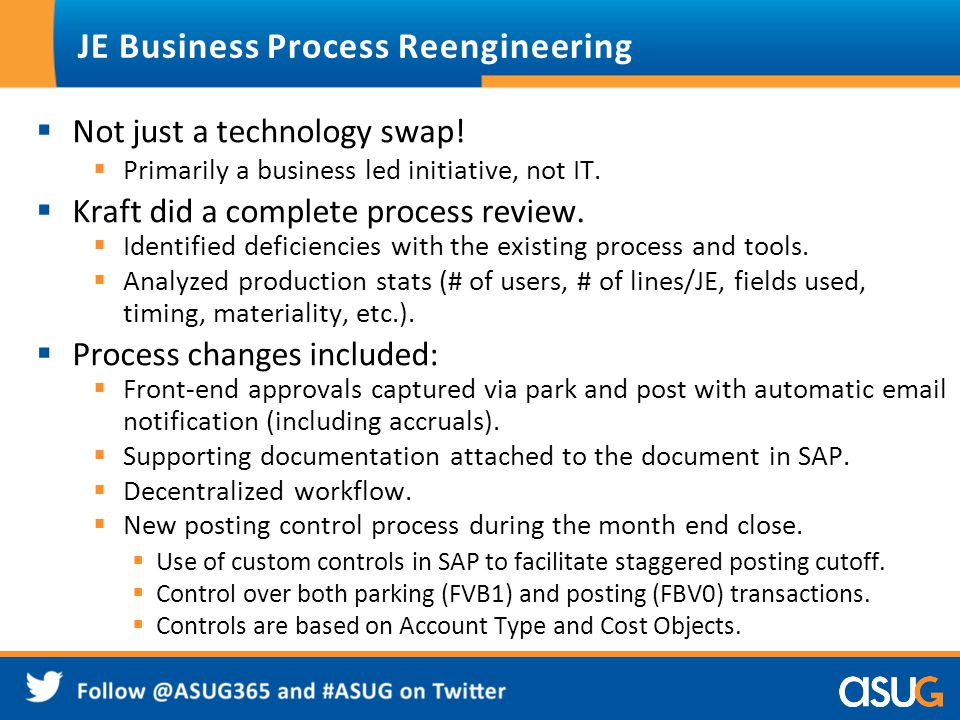 JE Business Process Reengineering