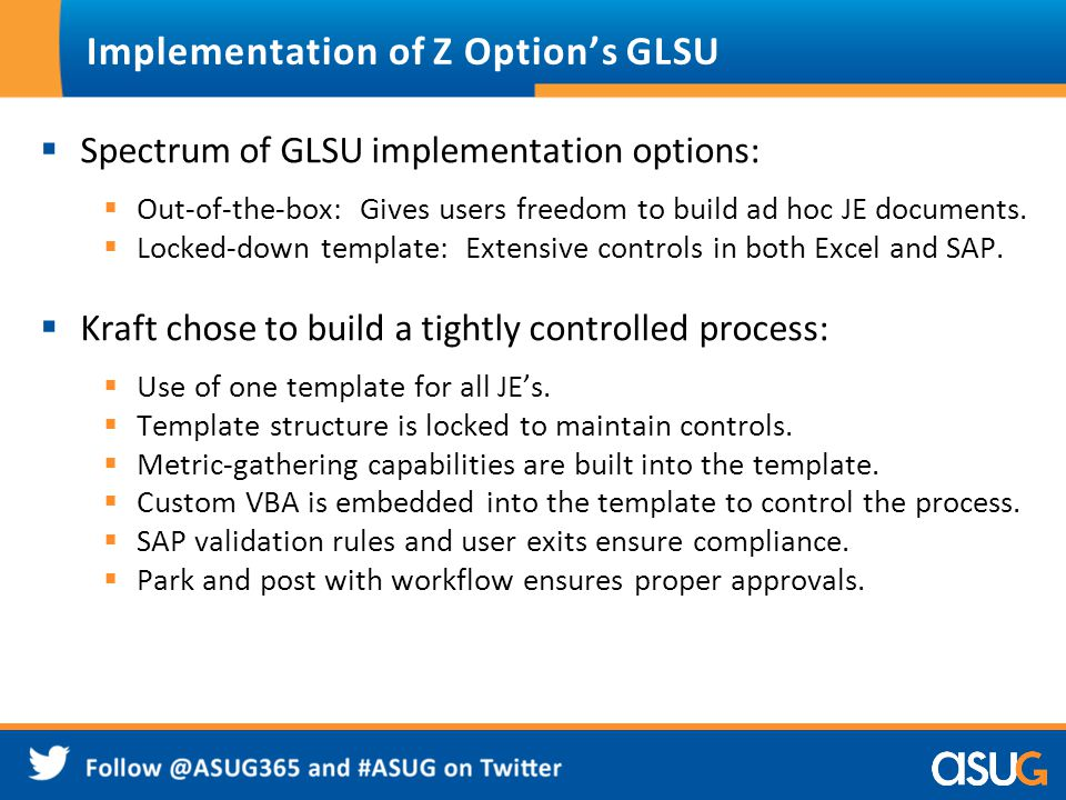 Implementation of Z Option's GLSU