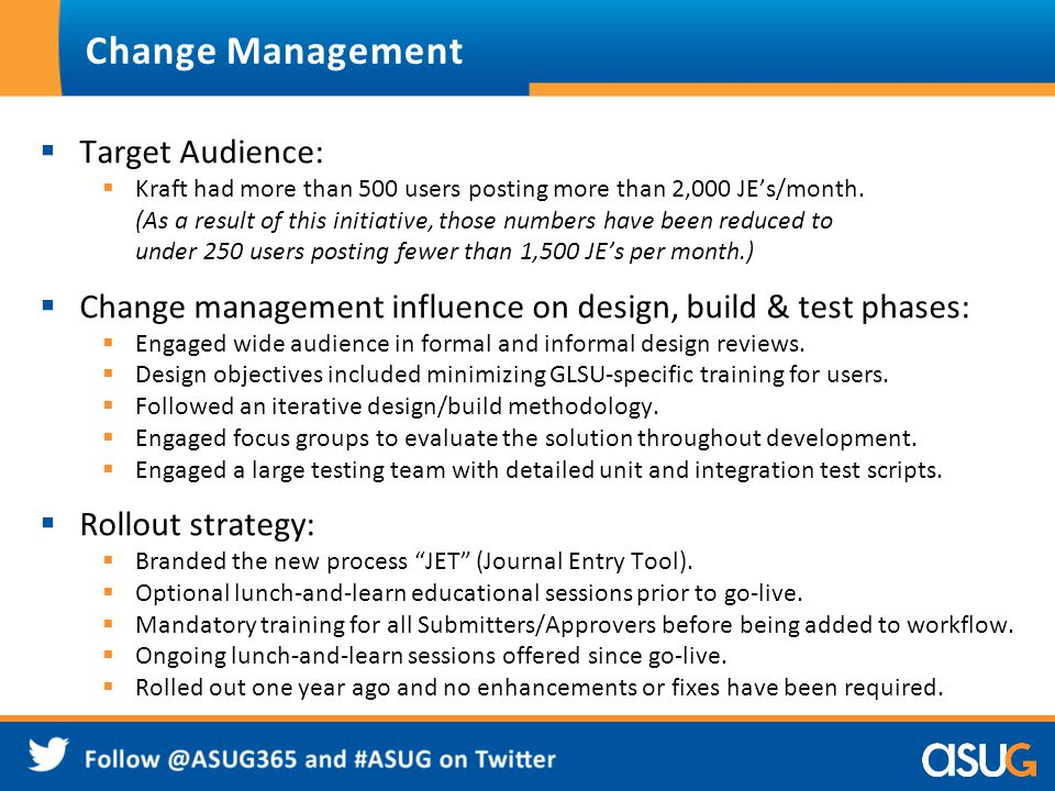 Change Management Target Audience:
