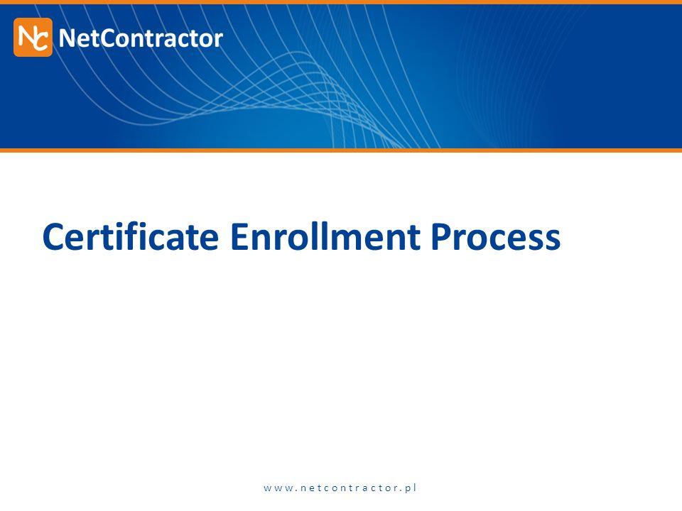Certificate Enrollment Process