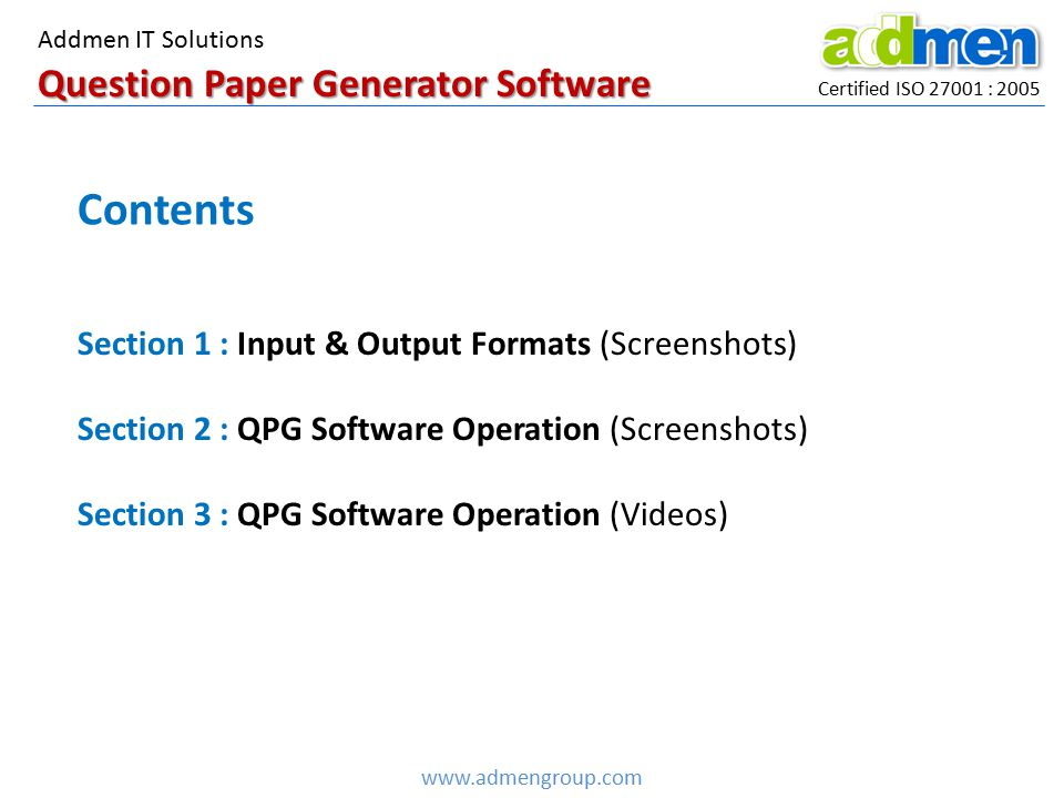 Question Paper Generator Software