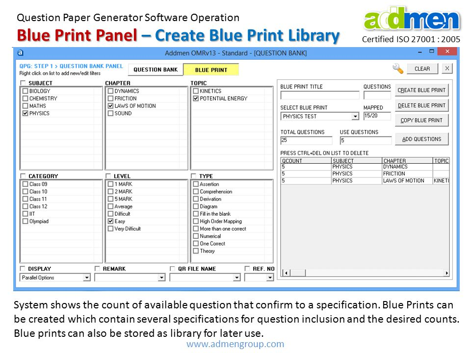 Blue Print Panel – Create Blue Print Library