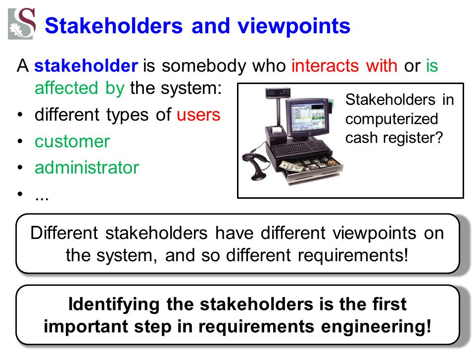 Stakeholders and viewpoints