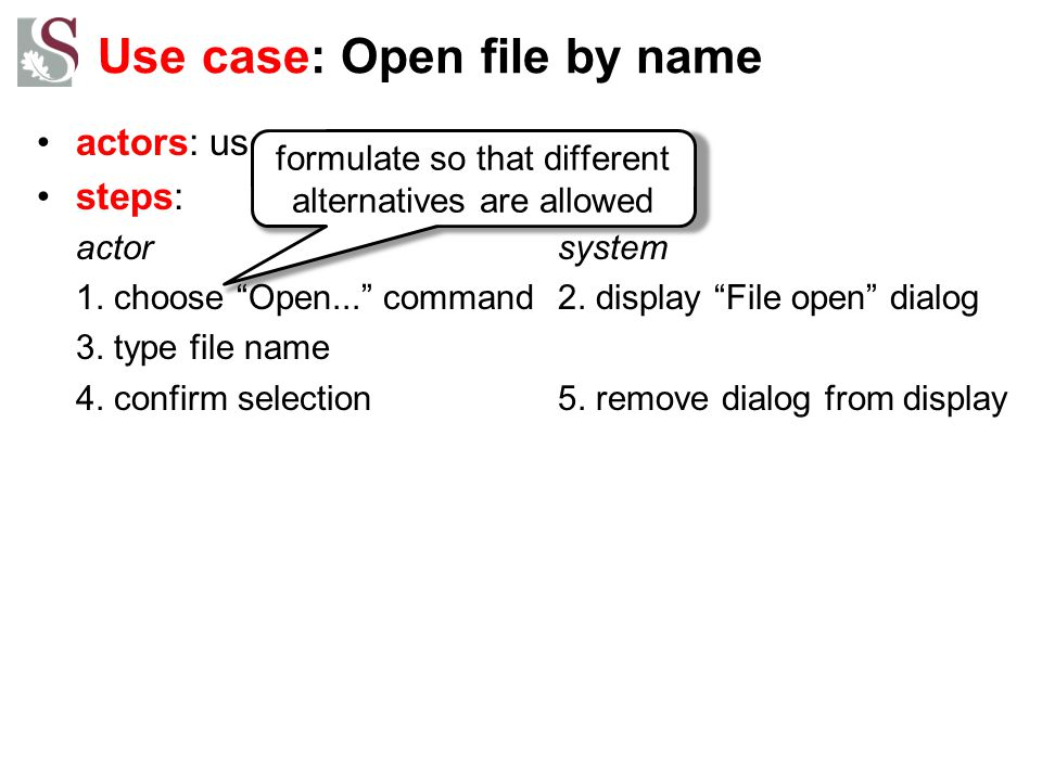 Use case: Open file by name