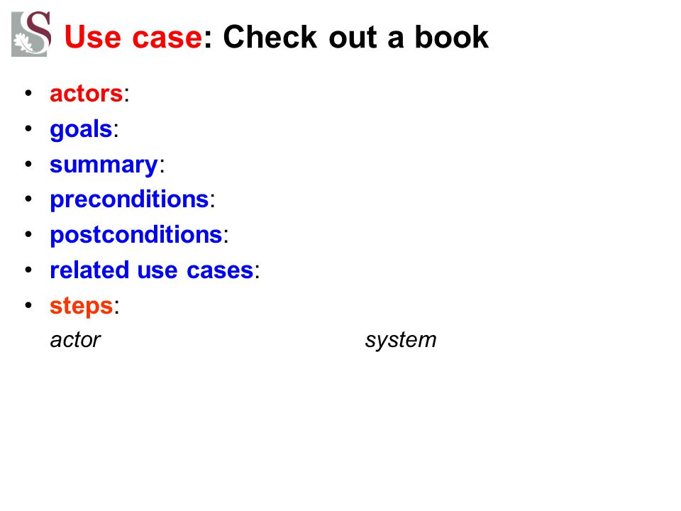 Use case: Check out a book