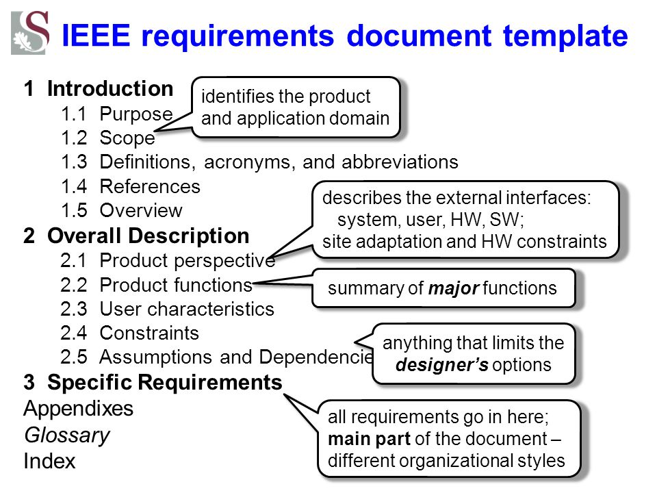 IEEE requirements document template