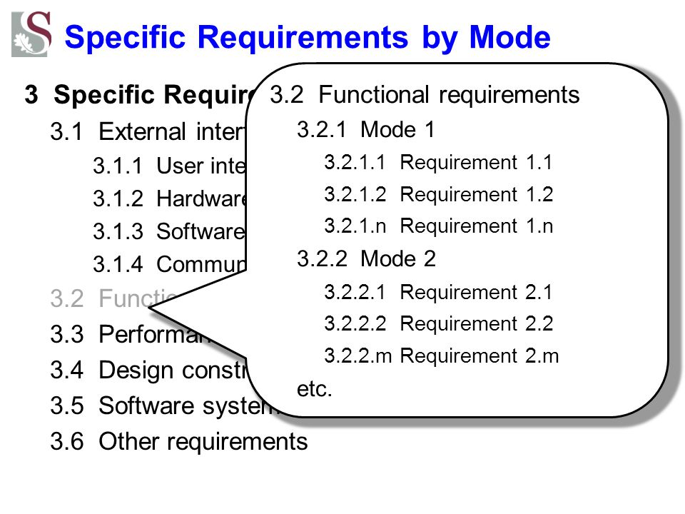 Specific Requirements by Mode