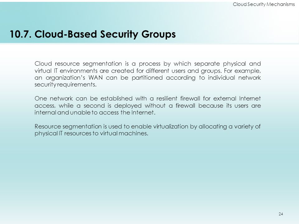 10.7. Cloud-Based Security Groups