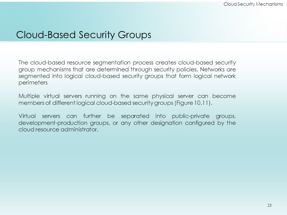 Cloud-Based Security Groups