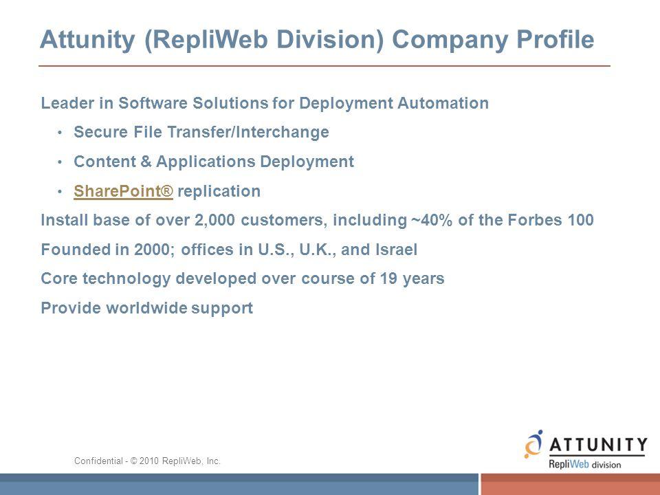 Attunity (RepliWeb Division) Company Profile
