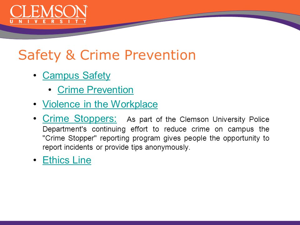 Safety & Crime Prevention