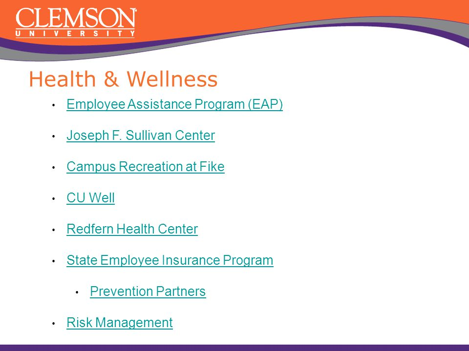 Health & Wellness Employee Assistance Program (EAP)