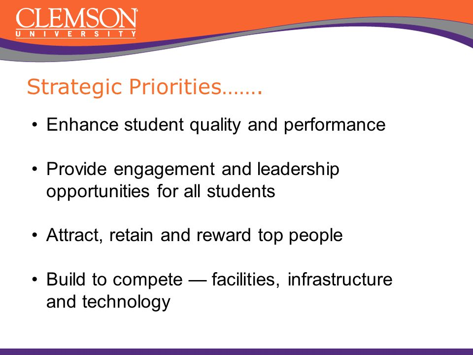Strategic Priorities…….